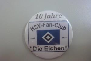 10 Jahre HSV-Fanclub Die Eichen Button