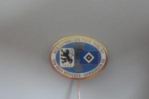 Anstecknadel DFB-Pokal 1996-1997 Achtelfinale TSV 1860 München - HSV weiß