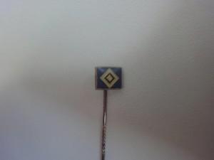 Anstecknadel HSV-Raute klein blau