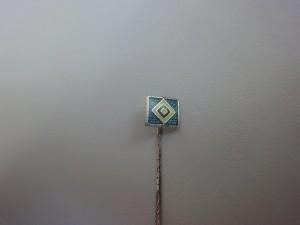Anstecknadel HSV-Raute klein glitzernd