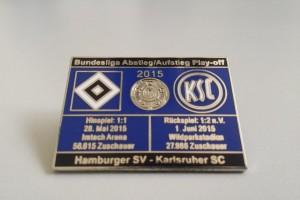Bundesliga 2014-2015 Relegation HSV - Karlsruher SC blau