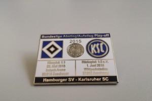 Bundesliga 2014-2015 Relegation HSV - Karlsruher SC weiß