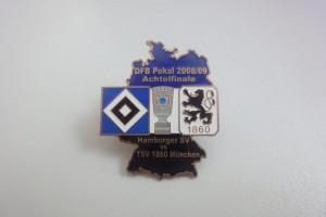 DFB-Pokal 2008-2009 Achtelfinale HSV - TSV 1860 München schwarz weiß blau
