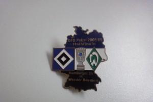 DFB-Pokal 2008-2009 Halbfinale HSV - Werder Bremen blau weiß schwarz