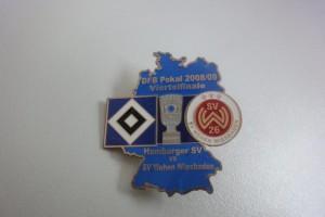 DFB-Pokal 2008-2009 Viertelfinale HSV - Wehen Wiesbaden hellblau