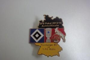 DFB-Pokal 2013-2014 Achtelfinale HSV - 1. FC Köln schwarz rot gold