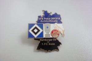 DFB-Pokal 2013-2014 Achtelfinale HSV - 1. FC Köln schwarz weiß blau