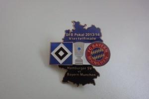DFB-Pokal 2013-2014 Viertelfinale HSV - Bayern München blau weiß schwarz