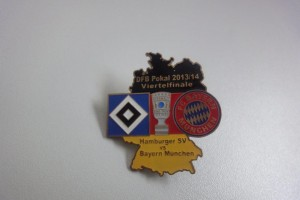 DFB-Pokal 2013-2014 Viertelfinale HSV - Bayern München schwarz rot gold