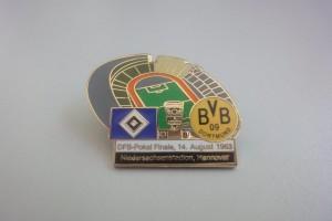 DFB Pokal Finale 1963 HSV - Borussia Dortmund weiß-schwarz