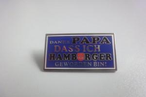 Danke Papa das ich Hamburger geworden bin schwarz