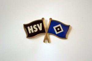 Doppel Fahne HSV und Raute