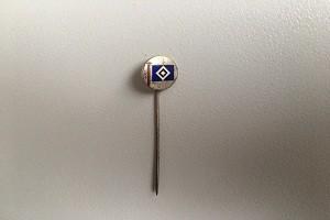 Ehrennadel HSV-Fahne silber (2)