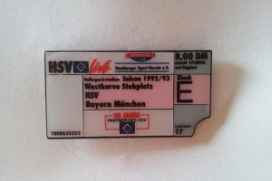 HSV Saison 1992-1993 Ticket Block E