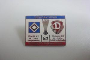 UEFA Cup 1974-1975 3. Runde HSV - Dynamo Dresden rot