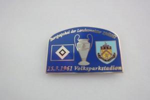 Europapokal 1961 HSV-FC Burnley blau