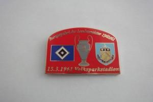 Europapokal 1961 HSV-FC Burnley rot