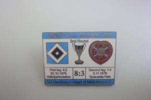 Europapokal der Pokalsieger 1976-1977 2. Runde HSV - Heart of Midlothian blau