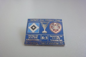 Europapokal der Pokalsieger 1976-1977 2. Runde HSV - Heart of Midlothian dunkelblau