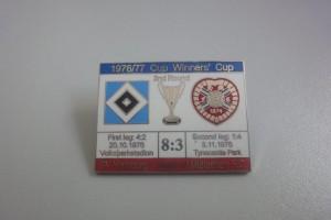 Europapokal der Pokalsieger 1976-1977 2. Runde HSV - Heart of Midlothian rot