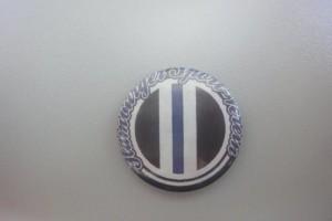 Hamburger Sport-Verein Button - große Schrift