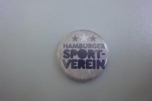 Hamburger Sport-Verein Button mit Sternen