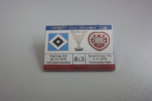 Europapokal 1976-1977 HSV-Midlothian rot